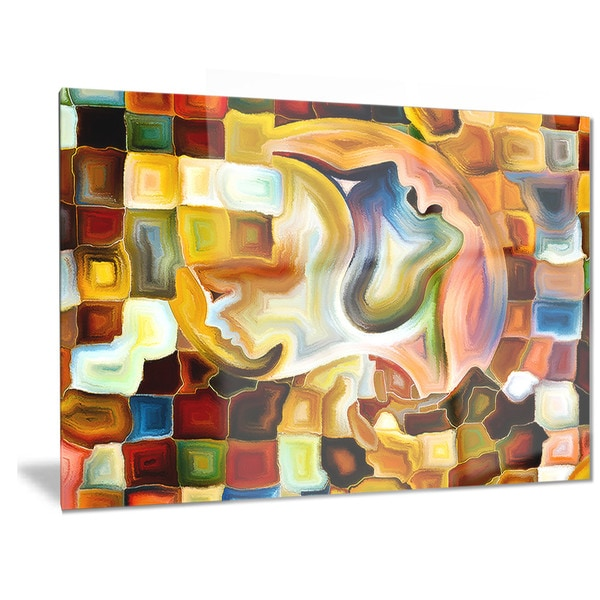 Designart \'Way of Inner Paint\' Abstract Metal Wall Art - Free ...