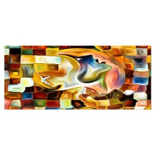 Designart 'Way of Inner Paint' Abstract Metal Wall Art