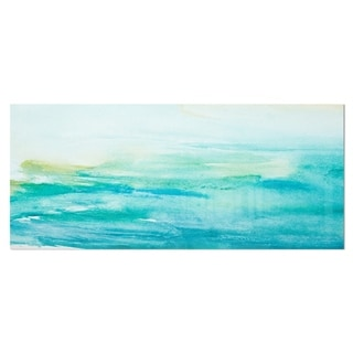 Designart 'Abstract Sea Close-up' Abstract Metal Wall Art
