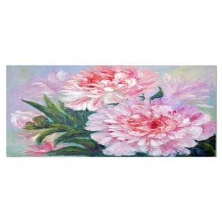 Designart 'Full Blown Peonies' Floral Metal Wall Art