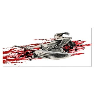 Designart 'Japan Warrior  Japanese Metal Wall Art