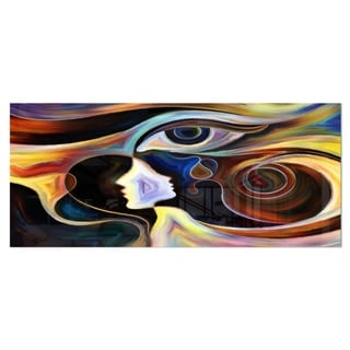 Designart 'Colorful Intuition' Abstract Metal Wall Art