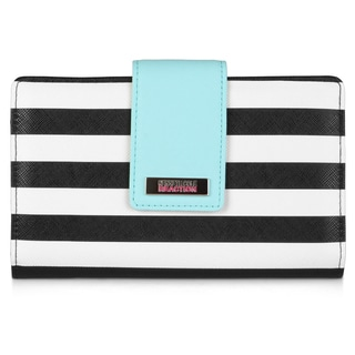 Kenneth Cole Reaction Women's Striped Utility Clutch Wallet