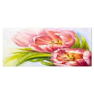 Designart 'Tulips Flowers' Floral Metal Wall Art