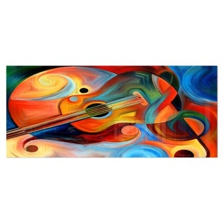 Designart 'Music and Rhythm' Abstract Metal Wall Art