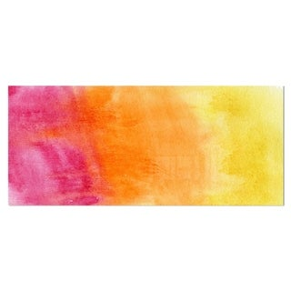 Link to Designart 'Yellow, Purple Meet Orange' Abstract Metal Wall Art Similar Items in Binders