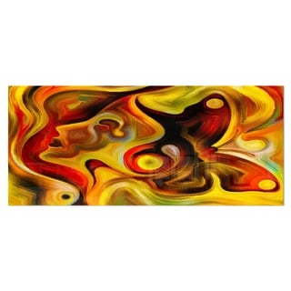 Designart 'Butterfly's Emotions' Abstract Metal Wall Art
