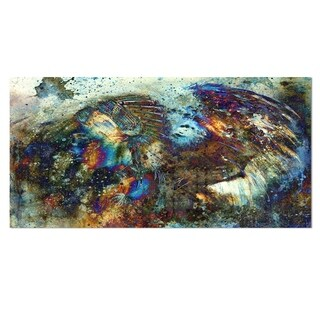 Designart 'Indian Woman Collage with Lion' Woman Metal Wall Art