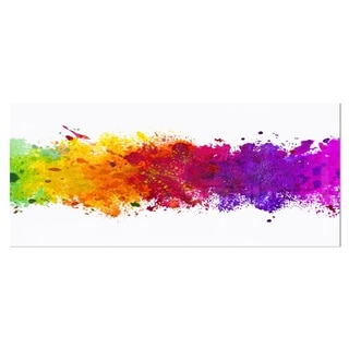 Designart 'Artistic Watercolor Splash' Abstract Metal Wall Art
