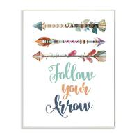 Follow Your Arrows' Stretched Canvas Wall Art