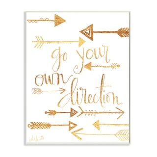 'Go Your Own Direction' Arrows Stretched Canvas Wall Art