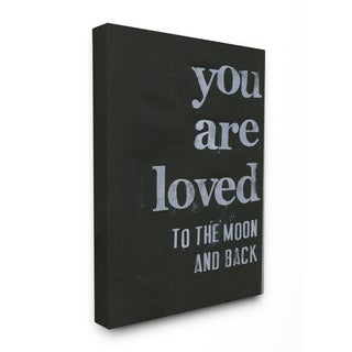 'You Are Loved To The Moon And Back' Stretched Canvas Wall Art