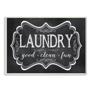 'Laundry Good Clean Fun' Chalkboard-look Wall Plaque Art