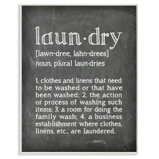 Laundry Definition' Chalk-look Wall Plaque Art