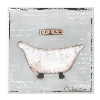 Relax Bathtub Lithograph
