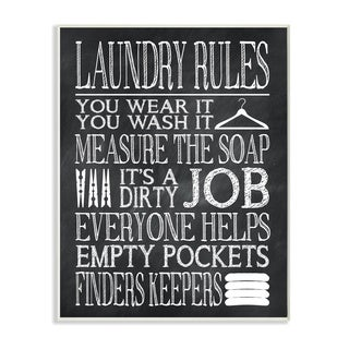 Laundry Rules Wear It Wash It' Wood Print Wall Plaque Art