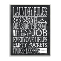Laundry Rules Wear It Wash It' Wood Print Wall Plaque Art