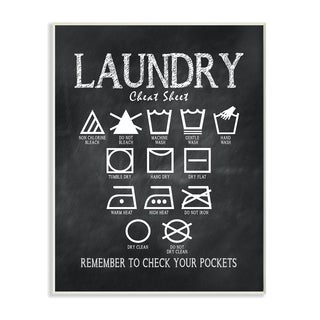 Laundry Cheat Sheet' Wall Plaque