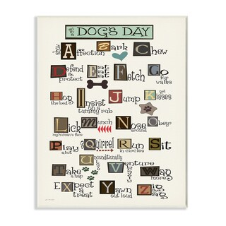 All in a Dog's Day' Wall Plaque