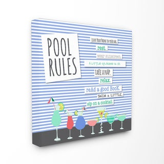 Pool Rules' Wall Plaque