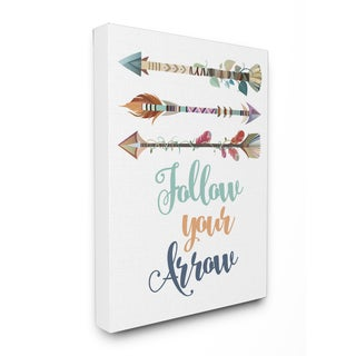 Follow Your Arrows Wall Plaque Art