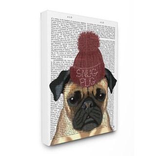 'Snug Pug' 16-inch x 20-inch Wall Plaque Art