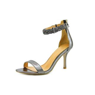 Badgley Mischka Women's Hawthorne Grey Leather Strappy Sandals