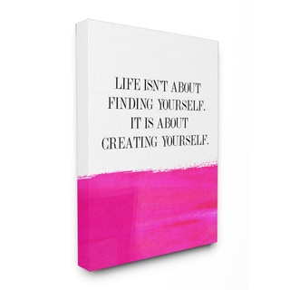 LIFE ISN'T ABOUT FINDING YOURSELF...' Wall Plaque Art