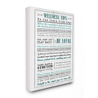 'Wellness Tips' Typography Wall Plaque