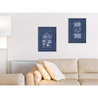 Jo Moulton 'Vintage Bike Blueprint' Wall Plaque Art