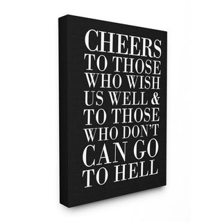 Cheers to Those Who Wish Us Well' Wall Art Lithographic Plaque