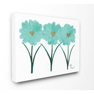 Wooden Turquoise Tulips Unframed Lithograph Wall Art