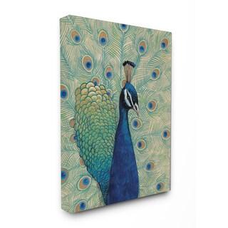 Blue Peacock' Wooden Wall Art