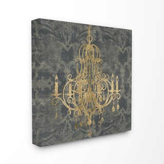 'Damask Chandelier' Unframed Wall Plaque Art