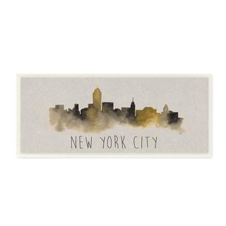 Unframed New York City Skyline Silhouette Wall Art