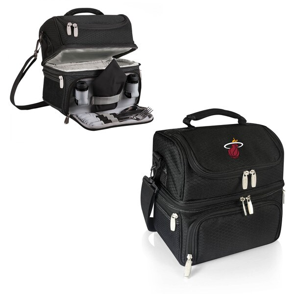 Picnic Time Miami Heat Black Pranzo Lunch Tote