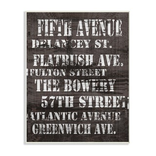Fifth Avenue' New York City Streets Wall Plaque