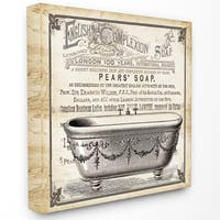 Old English Tub Pears Soap' Stretched Canvas Wall Art