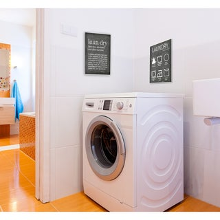 Laundry Cheat Sheet' Stretched Canvas Wall Art