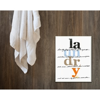Laundry Directions' White Stretched Canvas Wall Art