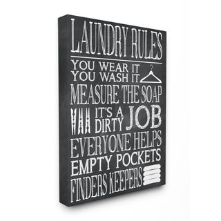 Wear It Wash It' Stretched Canvas Wall Art