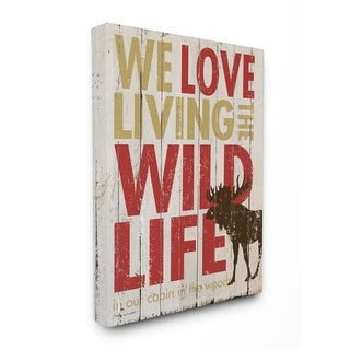 Love Living the Wild Life' Stretched Canvas Wall Art