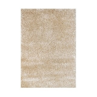 Alliyah European Elegance Beige Luxuriously Soft Texture Shag Rug (5 x 8)