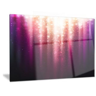 Designart 'Purple with Magic Light' Abstract Metal Wall Art