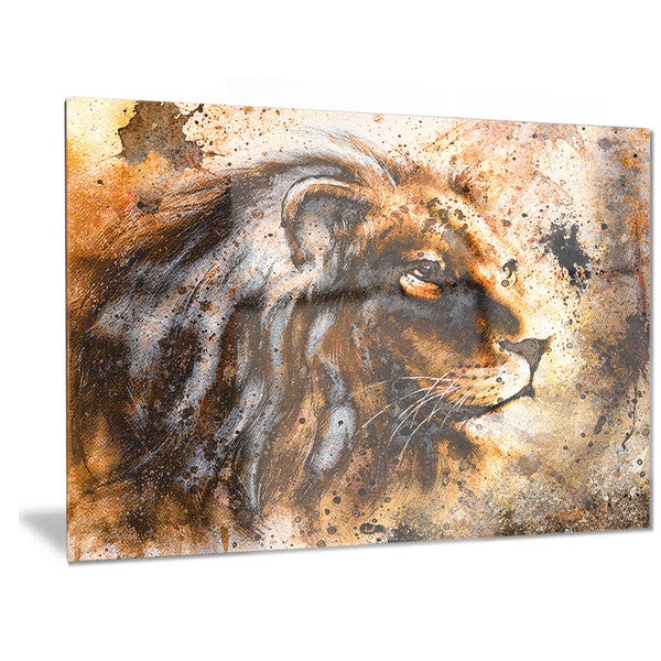 Designart u0026#x27;Lion Collageu0026#x27; Animal Metal Wall Art  sc 1 st  Overstock.com & Shop Designart u0027Lion Collageu0027 Animal Metal Wall Art - Free Shipping ...
