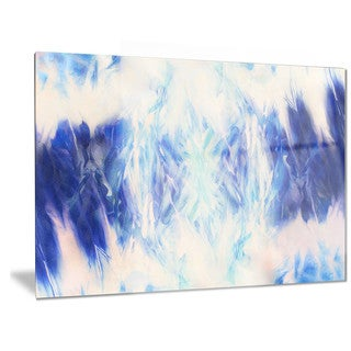Designart 'Blue Collage with Spots' Abstract Metal Wall Art