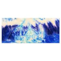 Designart 'Blue Life' Abstract Metal Wall Art
