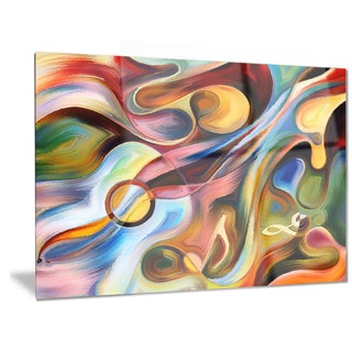 Designart 'Music beyond the Frames' Music Abstract Metal Wall Art
