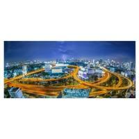 Designart 'Bangkok City' Cityscape Photography Metal Wall Art