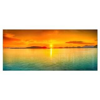 Designart 'Sunset Panorama' Photography Metal Wall Art